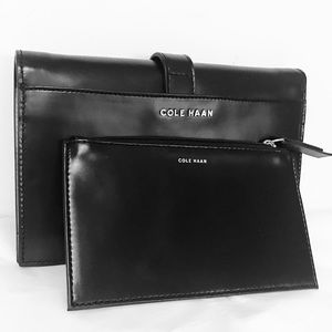 New Genuine Cole Haan leather clutch combo w/ RFID
